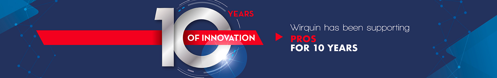 Wirquin Pro 10 years celebration banner